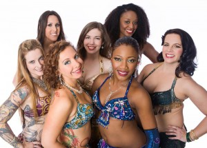 Studio portraits for Rafiah Dance Company of Atlanta Fusion Bellydance (AFBD).